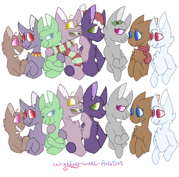 MLP - Christmas Gathering! - Base REMAKE by Wishing-Well-Artist