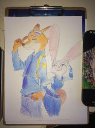 Zootopia Nick and Judy by Personaminato