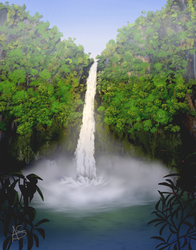 Tropical Waterfall by vanndra