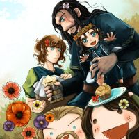 Baggingshield:: Family Picnic? by caylren