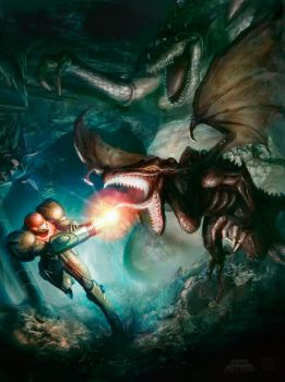 Metroid by ImmarArt