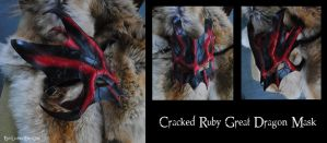 Cracked Ruby Great Dragon Mask by Epic-Leather
