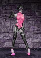 Catwoman - Pink and Black by kharis-art