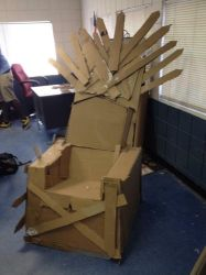 Incomplete Lifesize Iron Throne by CasimusPrime