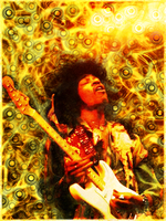 Jimi Hendrix by greenbrown