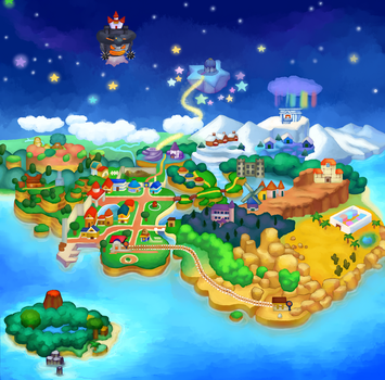 Paper Mario Map by MuzYoshi
