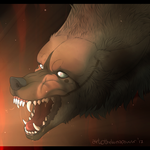YCH: Angry madness -Amaroq- by thelunapower