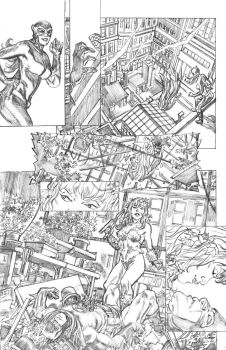 Batman pg 2 pencils by deankotz