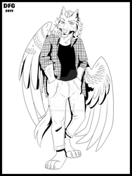 Winged Wolf - Commission by Dragonfoxgirl