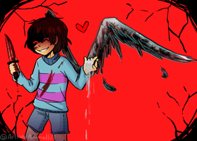 Undertale - Tainted Wings by ArtisticAnimal101