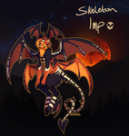 Hallowoolyne Auction, Skeleton Imp! (OPEN) by Verlidaine