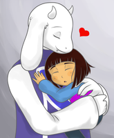 Toriel And Frisk by Nana-Uva