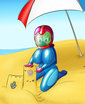 At the Beach by JDogindy