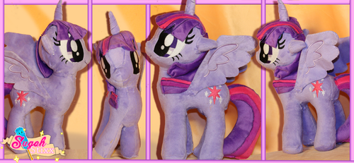 Twilight Sparkle - MLP Custom Plush by Sugah-Stixx