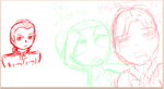 hetaliaaaaa and a dash of keroro on du scribble by Forget-beam