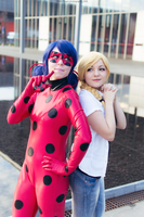 Adrienne Agreste and Ladybug Cosplay by LoloHime