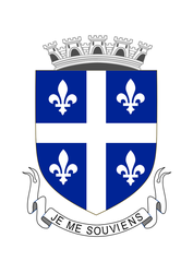 Quebecois Coat of Arms - My version by FitzGeraldian