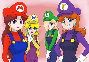 MarioBros: The four princesses by The-PirateQueen