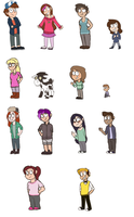 Gravity Falls AU- Characters by unbound-imagination