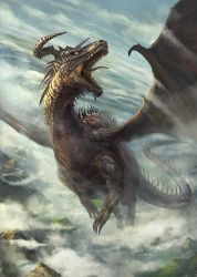 Dragon in flight by gerezon