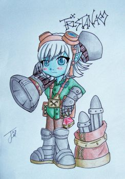 Tristana LOVES rockets by Pinny