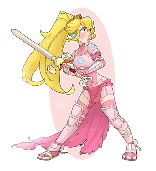 Warrior Peach by Skirtzzz