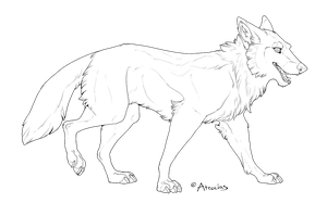 Free To Use Wolf Lines PS+MSPaint by Atrocias