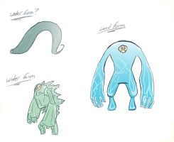 Water Elemental Forms by FrenziedPudding