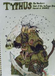 Champion of Nurgle - Typhus by Comicslaughterer