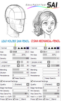 Paint Tool SAI Pencil Brushes by BerolEagle