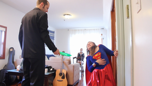 Supergirl hit with kryptonite by Enter-The-Gootzverse