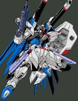 Gundam: Freedom - coloured by fan-art-club