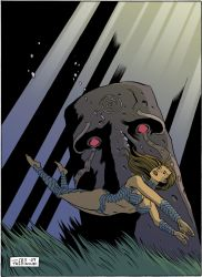 Fathom and the Moai. by mistertheriault