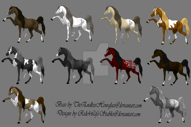 [Open]Arabian Adopts UPDATED by Ride4Life-Stables