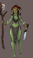 Orc Shaman Colored by Baby-Crow