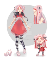ADOPT Auction (CLOSED) Cherry girl by Aurillador