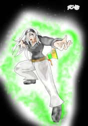 Miora's Fighting Stance! Emerald Dianic Power! by Zecrus-chan