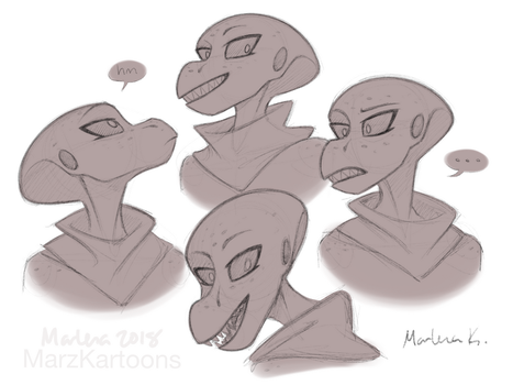 Snoot Sketches by MarzKartoons