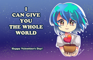 -- Earth-chan Valentine's Card -- by Kurama-chan