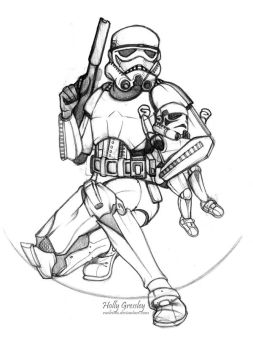 Stormtrooper and Babytrooper by Raeleven