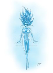 Ice spirit by Sombreval