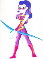 Commission: Rarity EQG Superhero by TopWanted