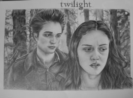 Twilight-Edward and Bella by ladybird88