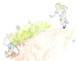 Alice and the Rabbit by sugarcub