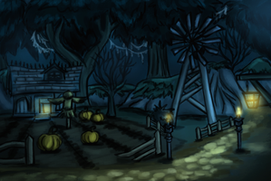World of Warcraft - Duskwood (Painted sketch) by TaraOBerry