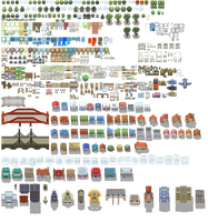 Pokemon Tileset From Public Tiles by ChaoticCherryCake