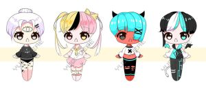 [CLOSED] Smol Chibi Adopts Auction .3 by Chromlyte