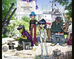 Gorillaz and Olympic Games by iricolor