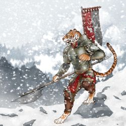 Tiger warrior illustration by greenhair