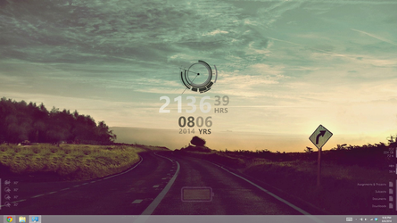 Rainmeter Desktop Setup - Mid 2014 (Windows 8) by kndllalx